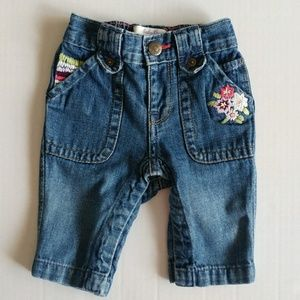 Baby Gap Embroidered Jeans 0-3 Months